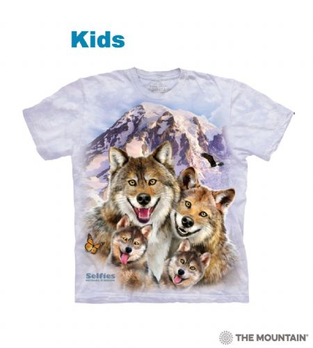 Wolf Selfie - Kids T-shirt - The Mountain®